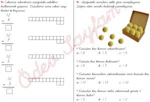cikarma islemini ogreniyorum sekillerle cikarma islemleri 1. Sinif Matematik Dersi - 08 - 01