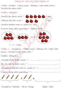 problem cozmeyi ogreniyorum problem cozelim 1. Sinif Matematik Dersi