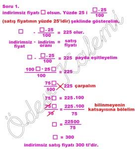 5. Sinif Matematik Dersi Cozumlu Yuzde Problemleri - 01