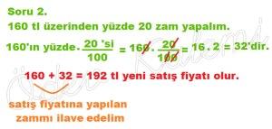5. Sinif Matematik Dersi Cozumlu Yuzde Problemleri - 02