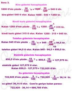 5. Sinif Matematik Dersi Cozumlu Yuzde Problemleri - 03