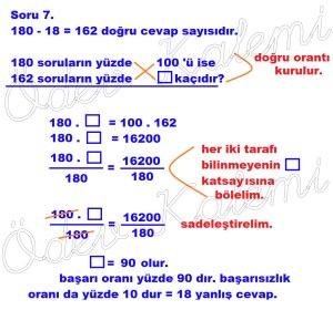 5. Sinif Matematik Dersi Cozumlu Yuzde Problemleri - 07