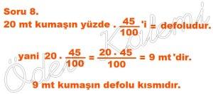 5. Sinif Matematik Dersi Cozumlu Yuzde Problemleri - 08