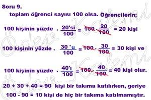 5. Sinif Matematik Dersi Cozumlu Yuzde Problemleri - 09