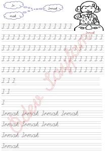 I Sesi 3. Grup Harfler 1. Sinif Turkce Dersi Okuma Yazma Etkinlikleri