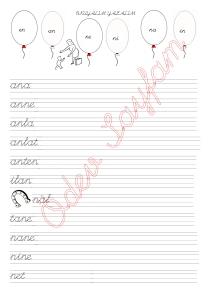 n Sesi ile ilgili Kelimeler 2. Grup Sesler 1. Sinif Okuma Yazma Etkinlikleri