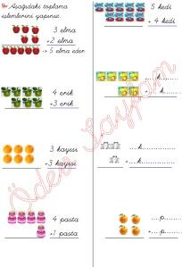 resimli alt alta toplama islemleri 1. Sinif Matematik Dersi - 01