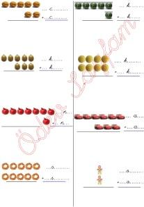 resimli alt alta toplama islemleri 1. Sinif Matematik Dersi - 02