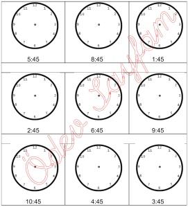saate akrep ve yolkovan yerlestirme ceyrek kala 3. sinif Matematik Dersi