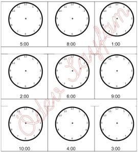 saati okumayi ogreniyorum saate akrep ve yolkovan yerlestirme 1. sinif Matematik Dersi