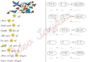 y sesi metin 3. Grup harfler 1. Sinif Turkce Dersi Okuma Yazma Etkinlikleri toplama islemleri
