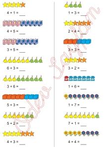 1. Sinif Matematik Dersi Toplam islemleri - 17