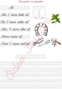 n sesini ogreniyorum okuma ve yazma calismasi 2. Grup harfler 1. Sinif Turkce Dersi  - 03