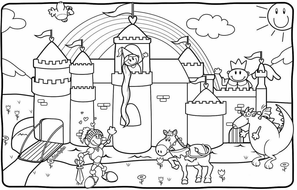 Görsel Sanatlar Dersi Serbest Etkinlikler 2 Sinif Boyama Rapunzel