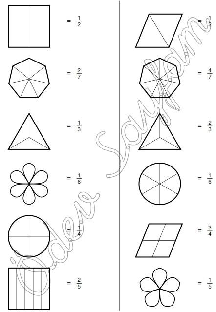 4 Sinif Matematik Dersi Kesirler Belirtilen Kesin Kadarini Boyama