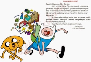 basari-belgesi-2-sinif-adventure-time