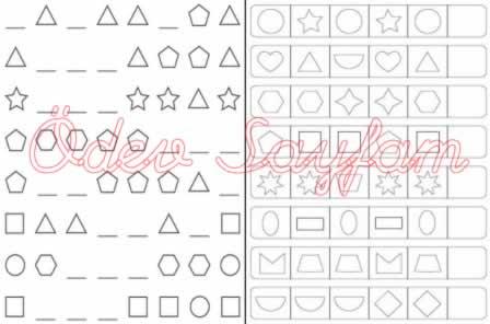 örüntüleri Tamamlayip Boyama 1 Sinif Matematik Dersi ödev Sayfam
