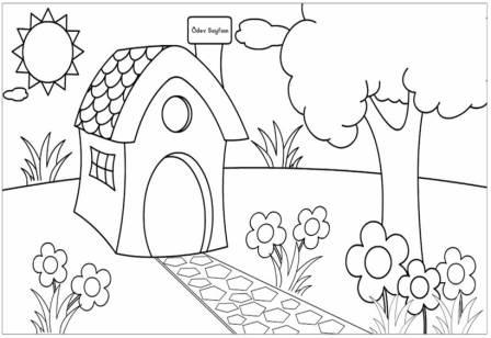 Boyama çalişmasi 1 Sinif Görsel Sanatlar Dersi ödev Sayfam