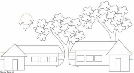 Renkli Kalem Boyama 1 Sinif Görsel Sanatlar Dersi ödev Sayfam