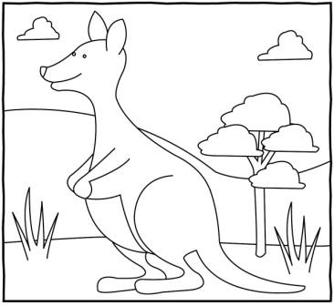 Kanguru Boyama çalişmasi 1 Sinif Görsel Sanatlar Dersi ödev Sayfam
