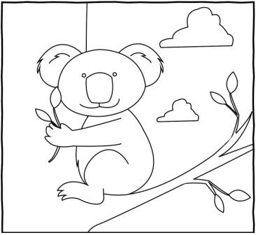 Koala Boyama çalişmasi 1 Sinif Görsel Sanatlar Dersi ödev Sayfam