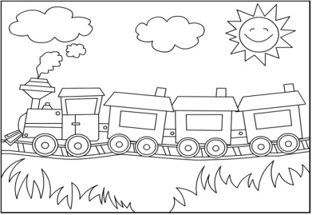 Tren Boyama Gorsel Sanatlar Dersi 1 Sinif Odev Sayfam